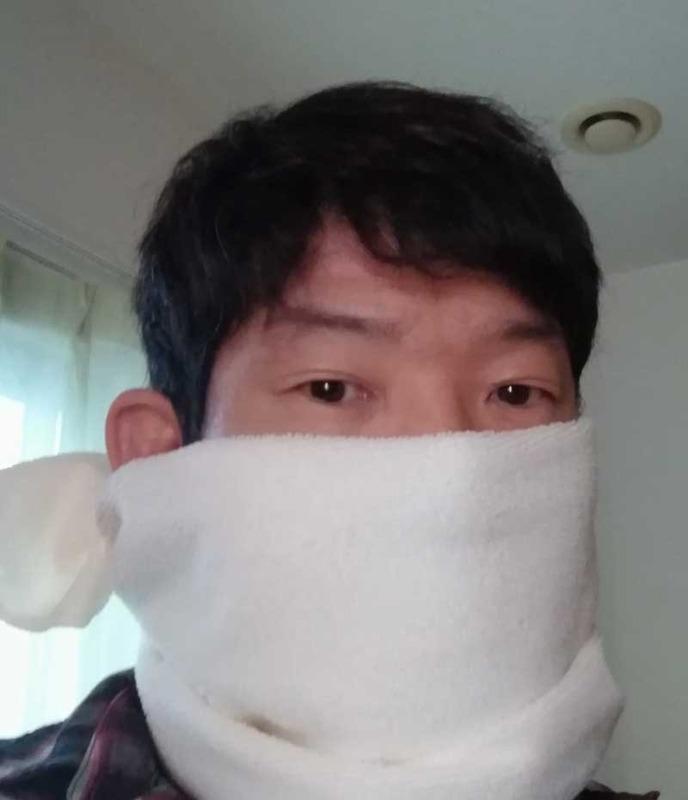 マイクロファイバータオルのマスク